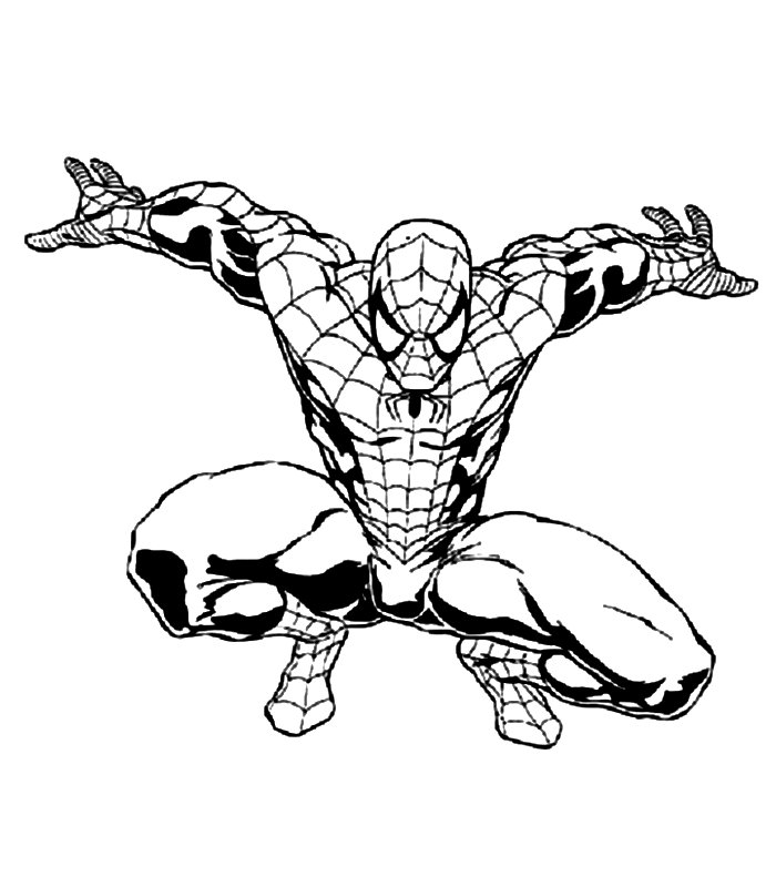 Disegni Spiderman Da Colorare Az Colorare