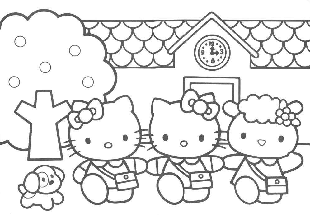 hello kitty colouring pages for kids