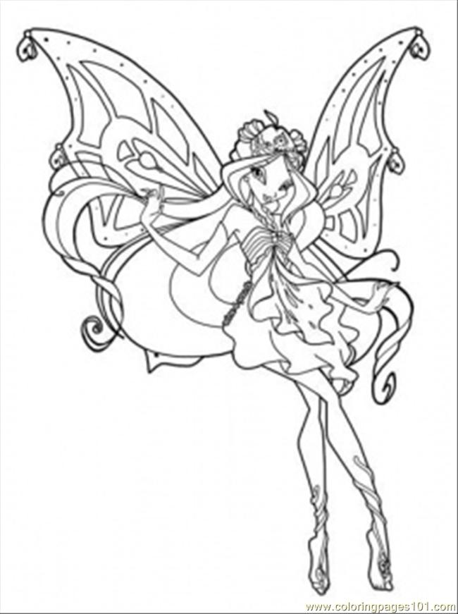 Coloring Pages Queen Bloom (Cartoons > Winx Club) - free printable ...