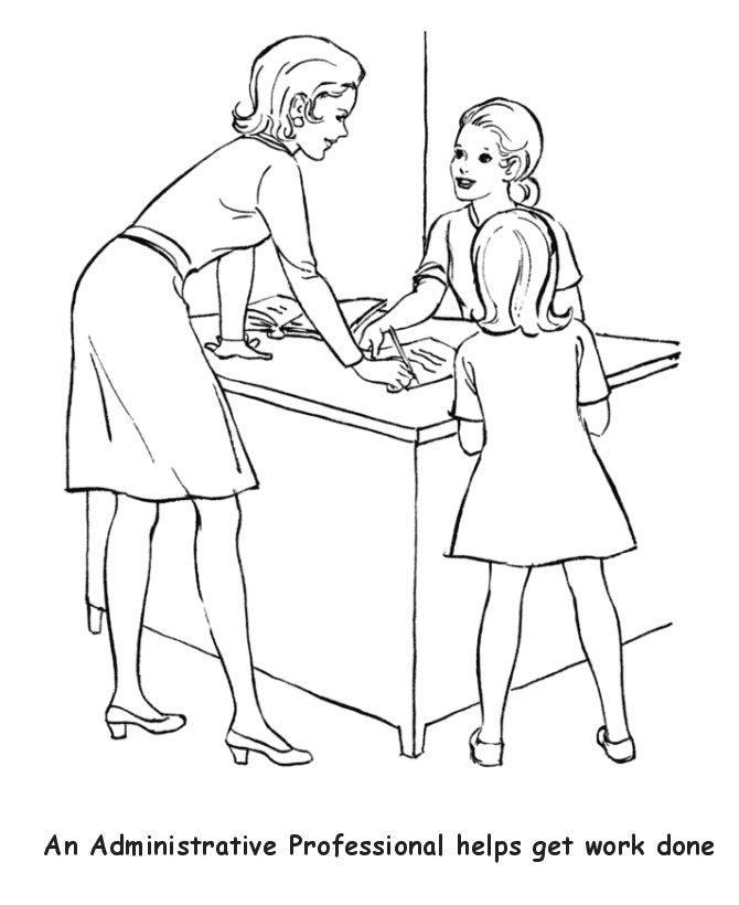 Administrative Professional Labor Day Coloring Pages | Coloring Pages