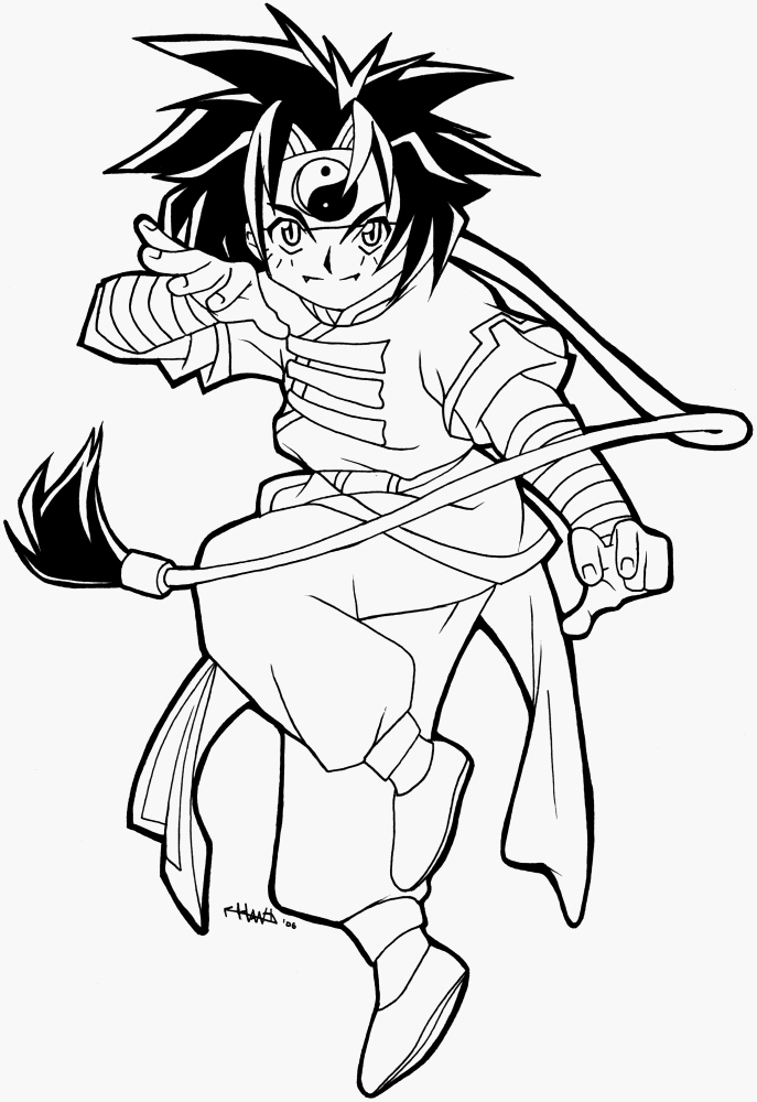Beyblade Ray lineart by Hawth on deviantART