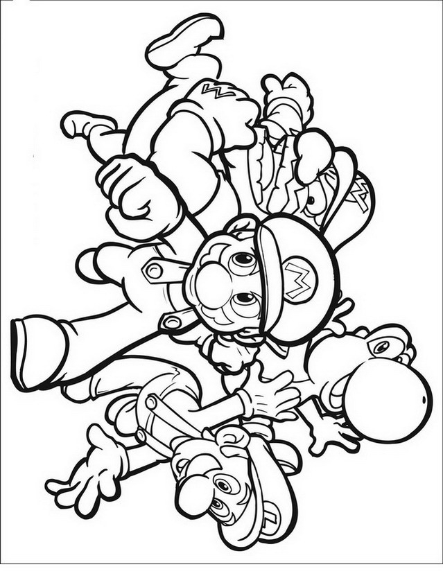 Funghi super mario az colorare for Disegni mario bros