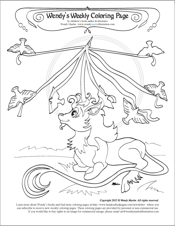 Beltane coloring page Archives -