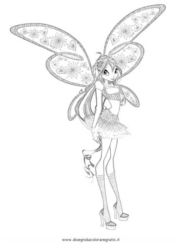 Winx Bloom Da Colorare Winx Believix Colorare Disegni Da Colorare