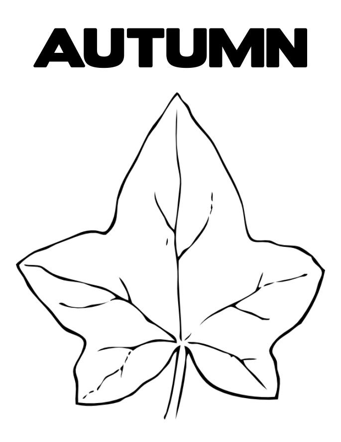 Autumn Leaves Printable Coloring Pages | Coloring