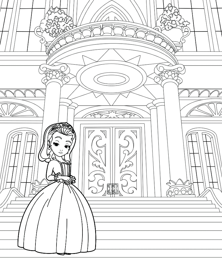 Sofia the First coloring pages - Printable coloring pages