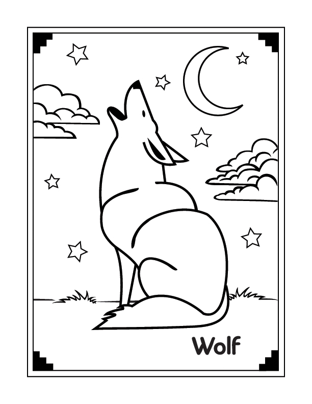 coloring pages wolf | Maria Lombardic