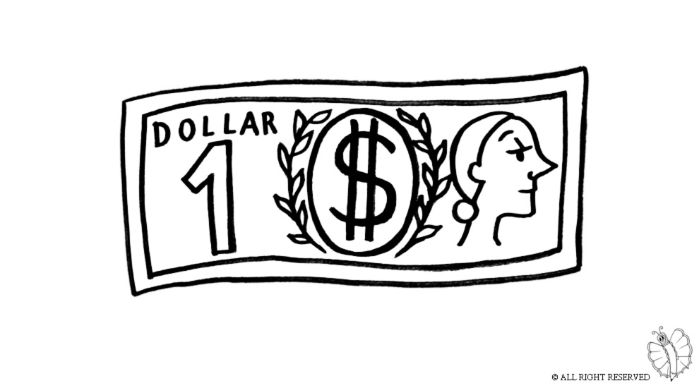 dollar signs coloring pages free - photo#42