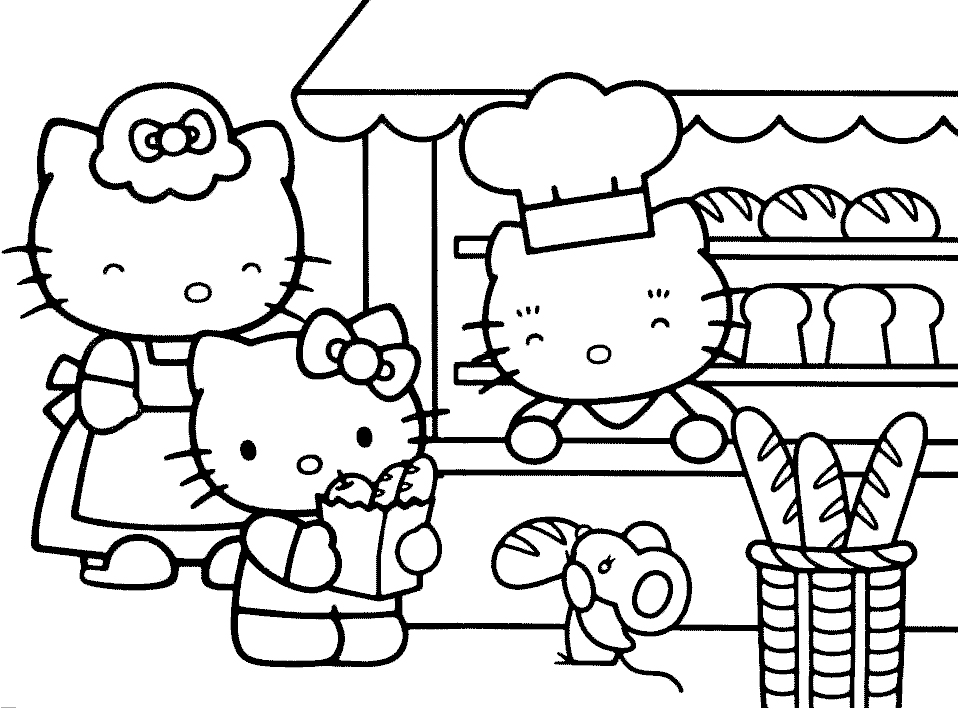 Hello Kitty Da Disegnare Az Colorare