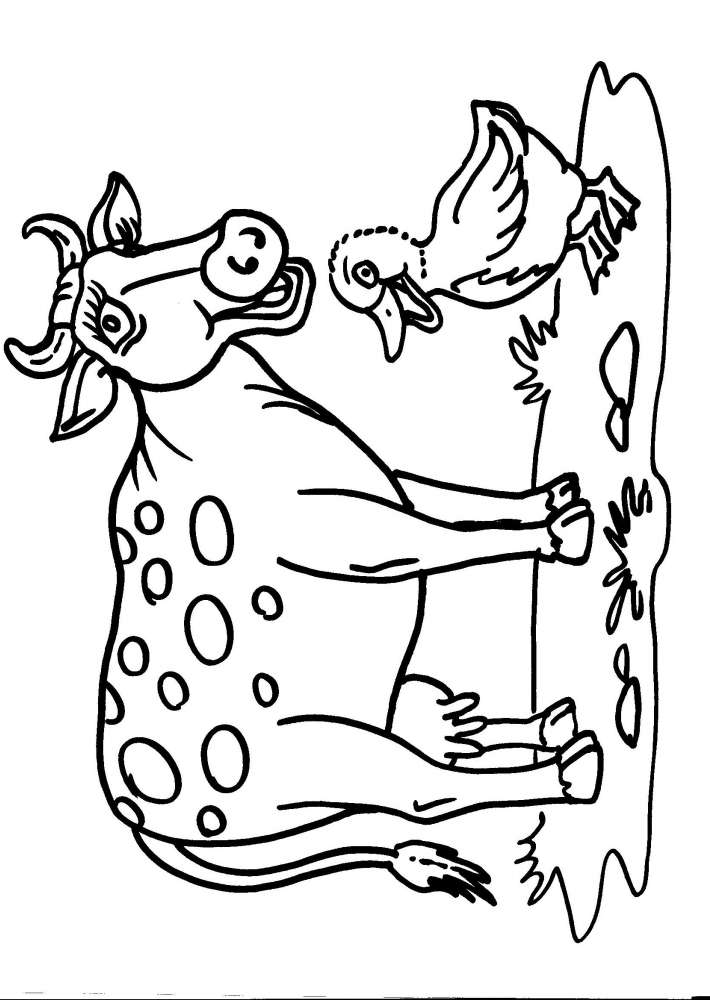 mucca colorare da Colouring Pages (page 3)