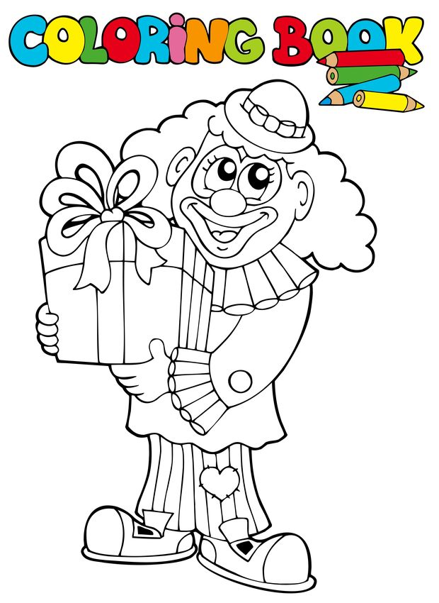 thanksgiving coloring pages funny clowns - photo#8