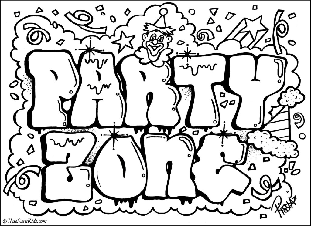 Graffiti Printable Pages - Bresaniel™ Consulting Ltd. - Global ...
