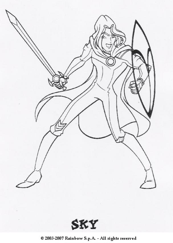 WINX CLUB coloring pages - The Winx Club girls