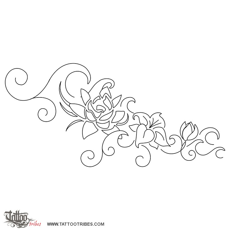 Pin Tattoo Stencil Fiori on Pinterest