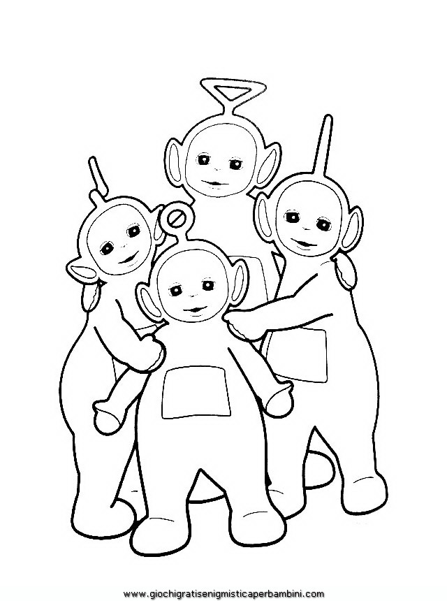 Da Colorare Teletubbies Da Colorare 2 Teletubbies Da Colorare 3