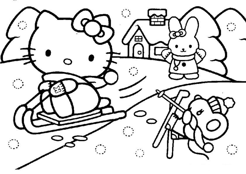 Disegni da colorare Hello Kitty: Hello Kitty e la neve - Disegni ...
