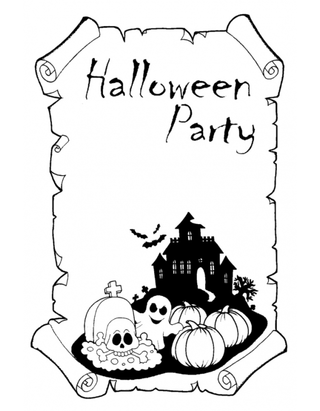 disegno-halloween-party-da- ...