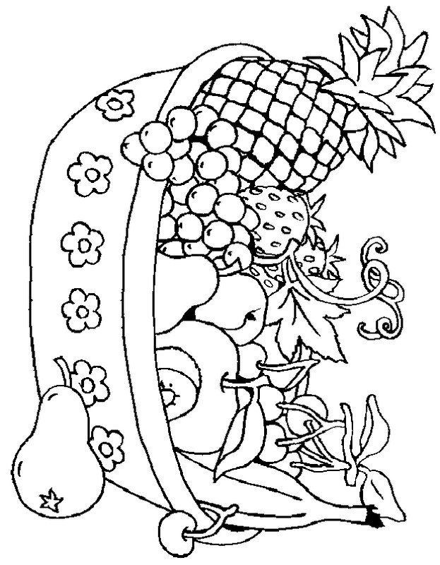 cesto di frutta Colouring Pages (page 2)