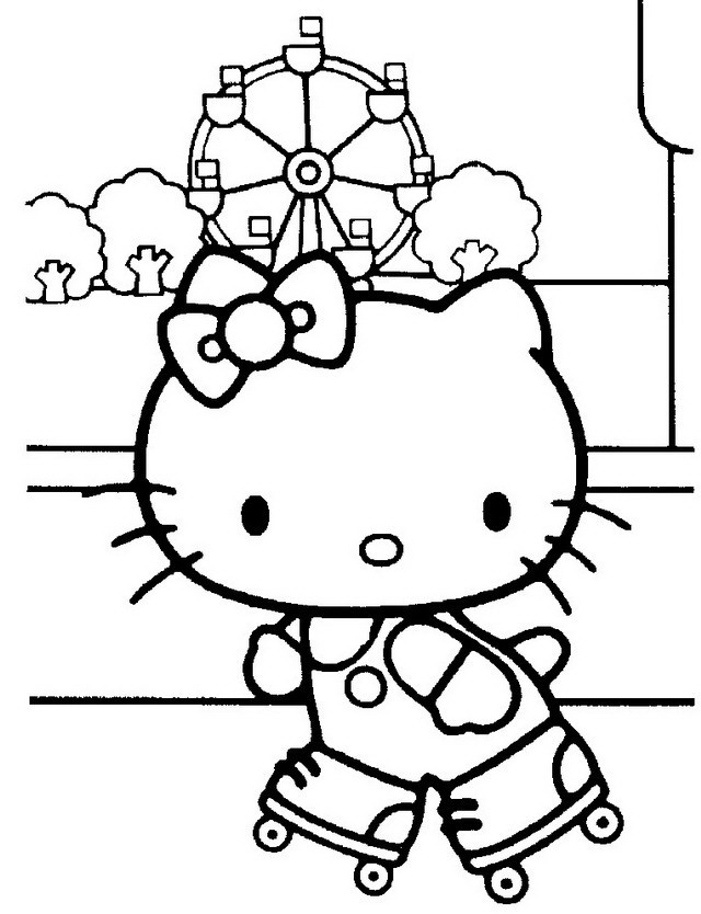 Hello Kitty da colorare | Disegni Gratis
