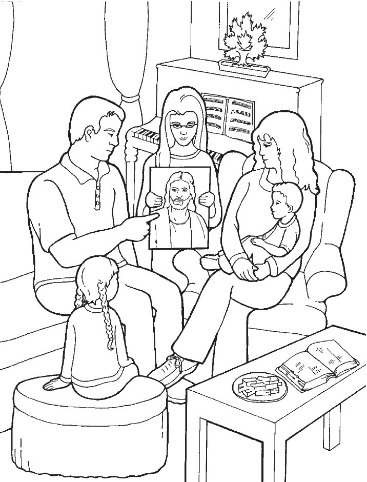the first family coloring pages - photo#48