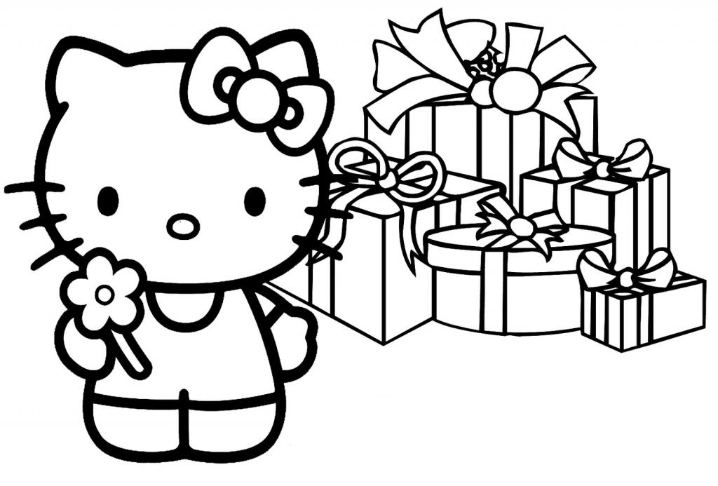 Disegni da colorare Hello Kitty: regali per Hello Kitty - Disegni ...
