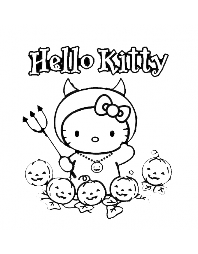 Pin Stampa Disegno Di Hello Kitty Halloween Da Colorare on Pinterest