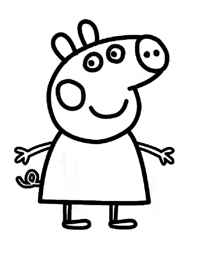 george george pig Colouring Pages (page 2)