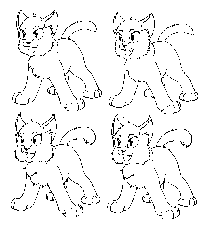 deviantART: More Like Warrior Cat love Free lineart by Tesseri-