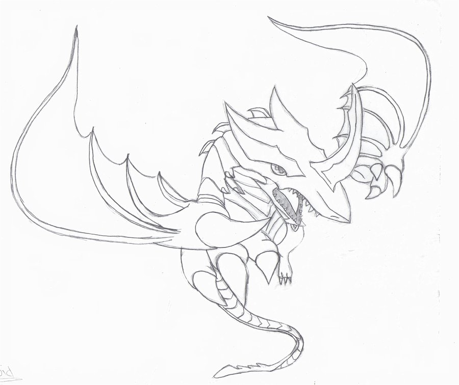 bakugan coloring pages of drago - bakugan drago az colorare