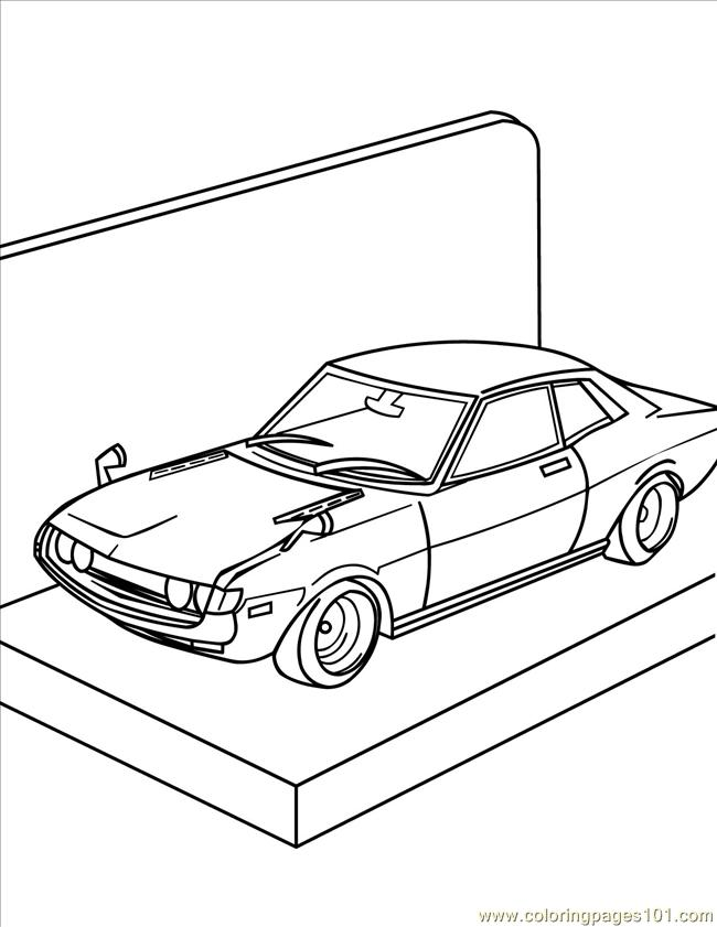 Coloring Pages Model Car Ink (Entertainment > Toys) - free ...