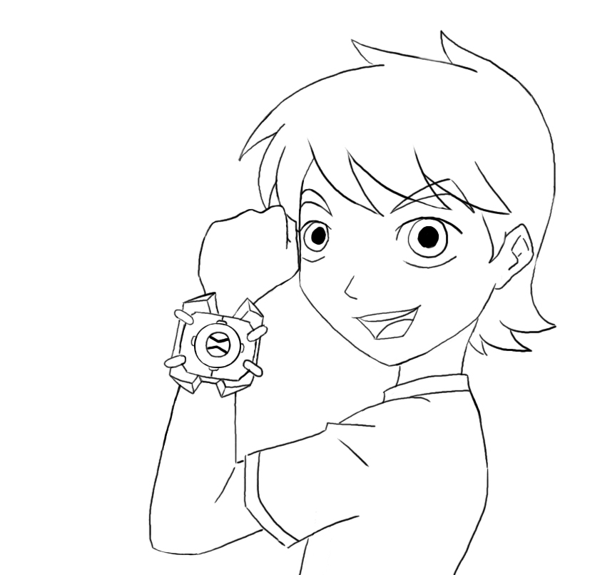 Ben 10- Lineart by AndrogynousOne on deviantART