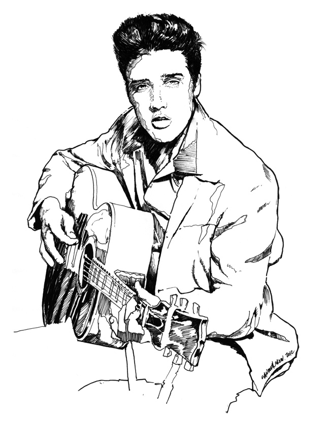 Elvis In Blue Suede Shoes