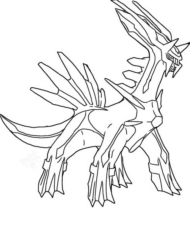 dialga coloring pages - disegni da colorare pokemon dialga az colorare