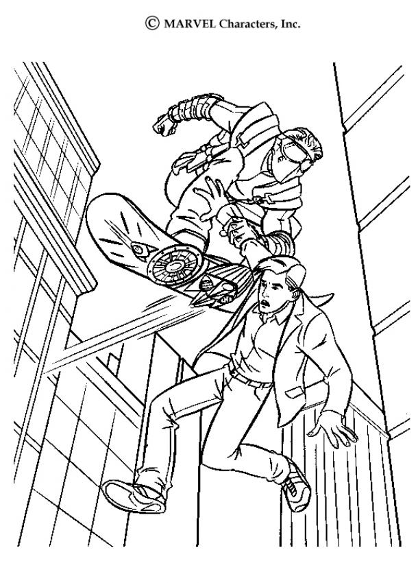 SPIDER-MAN coloring pages - Peter Parker and Harry Osborn