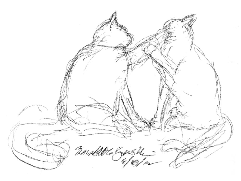 The Creative Cat - Daily Sketch: The Cat Mountains