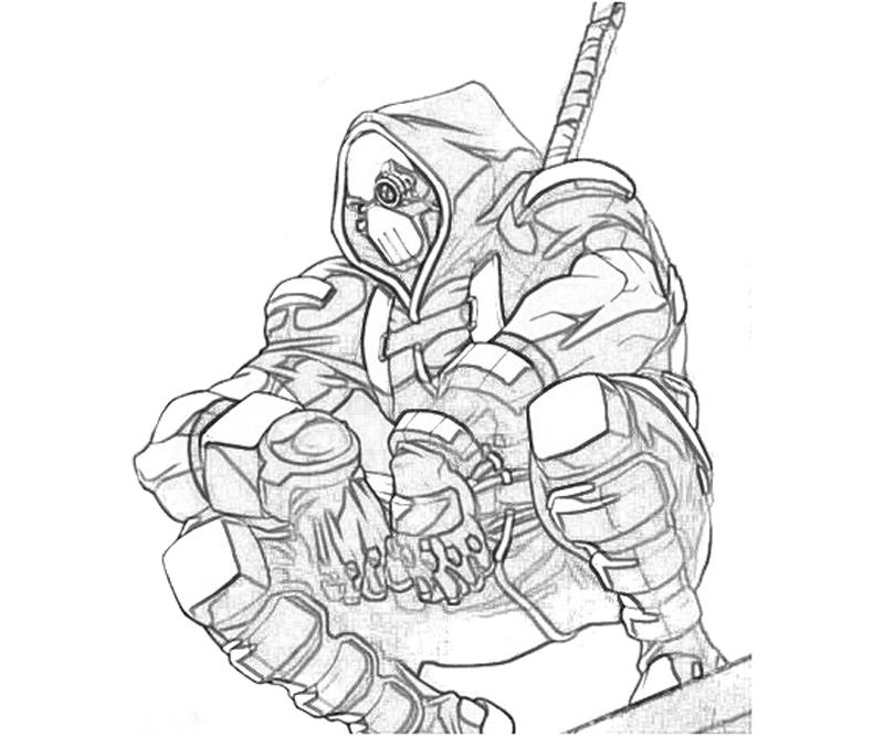 Deathstroke Coloring Pages Printable Sketch Coloring Page