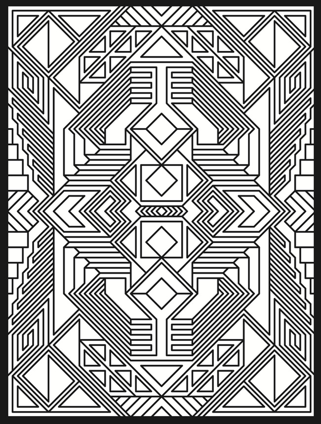 50 Trippy Coloring Pages