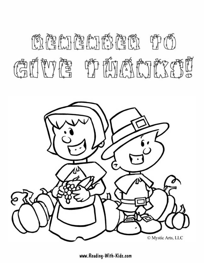 Thanksgiving Colouring Sheets For Kids