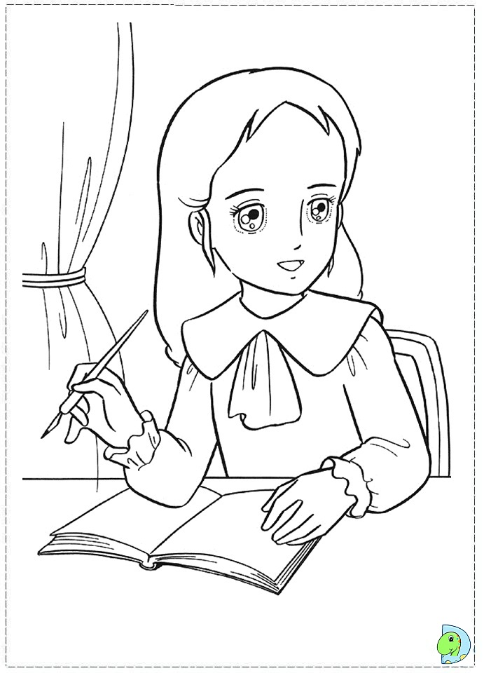 Sarah Kay First Kiss Colouring Pages (page 3) - AZ Colorare