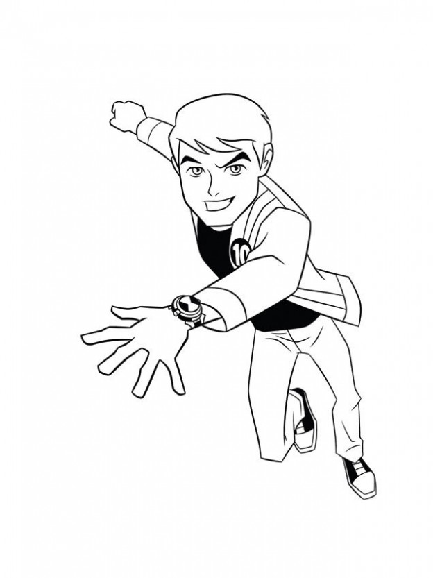ben ten omitrix Colouring Pages (page 2)