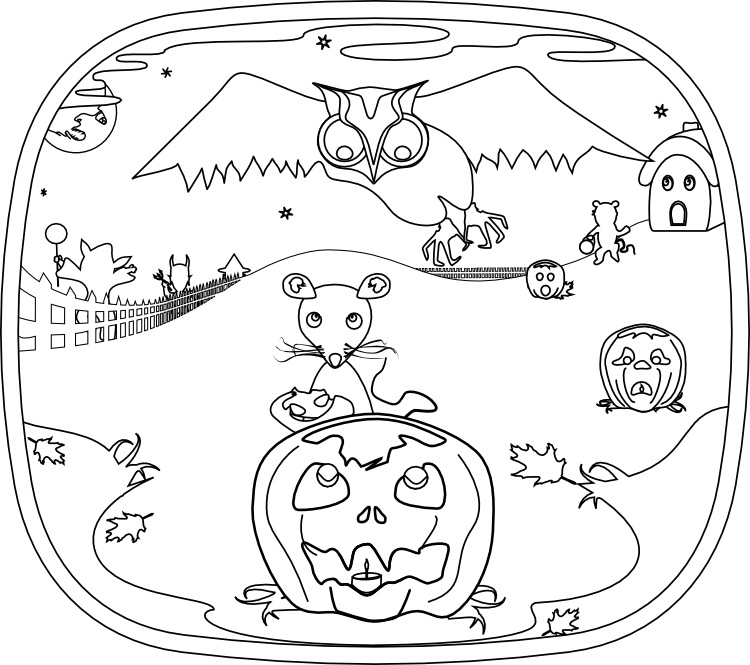 Bindlegrim (Holiday Artist and Author): Color your own Pumpkin Dream