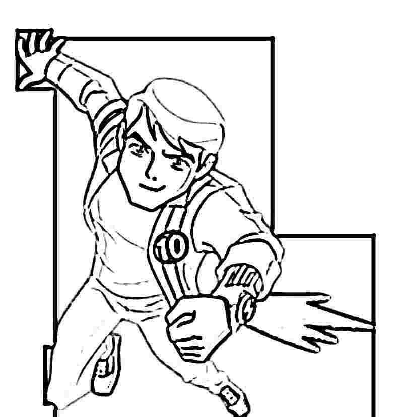 BEN 10 FREE COLORING PAGES