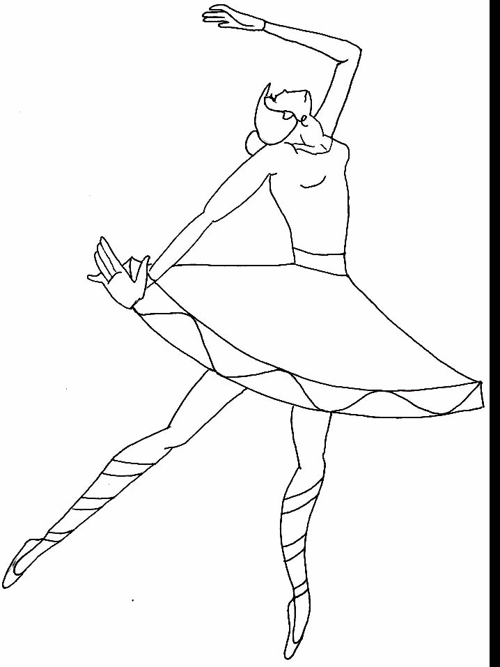 Anime Ballerina Coloring Pages