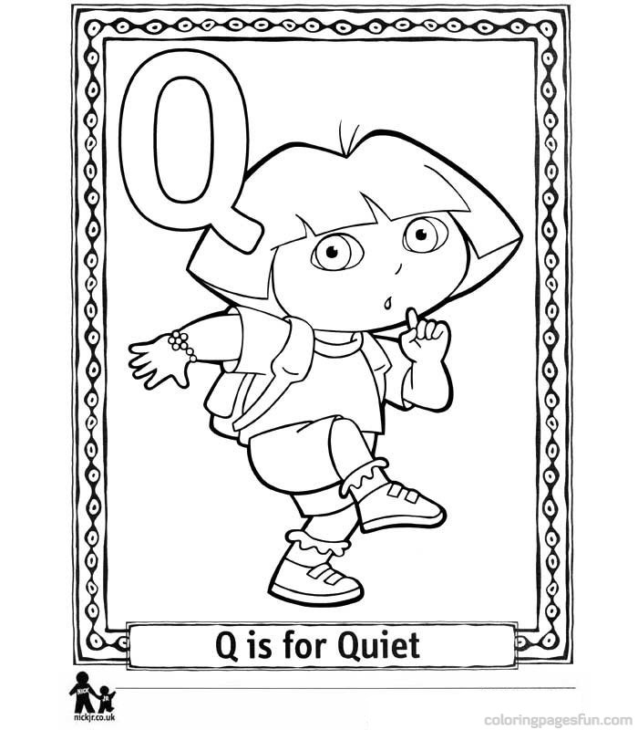 Printable Letter Q Coloring Pages : Quiet coloring page