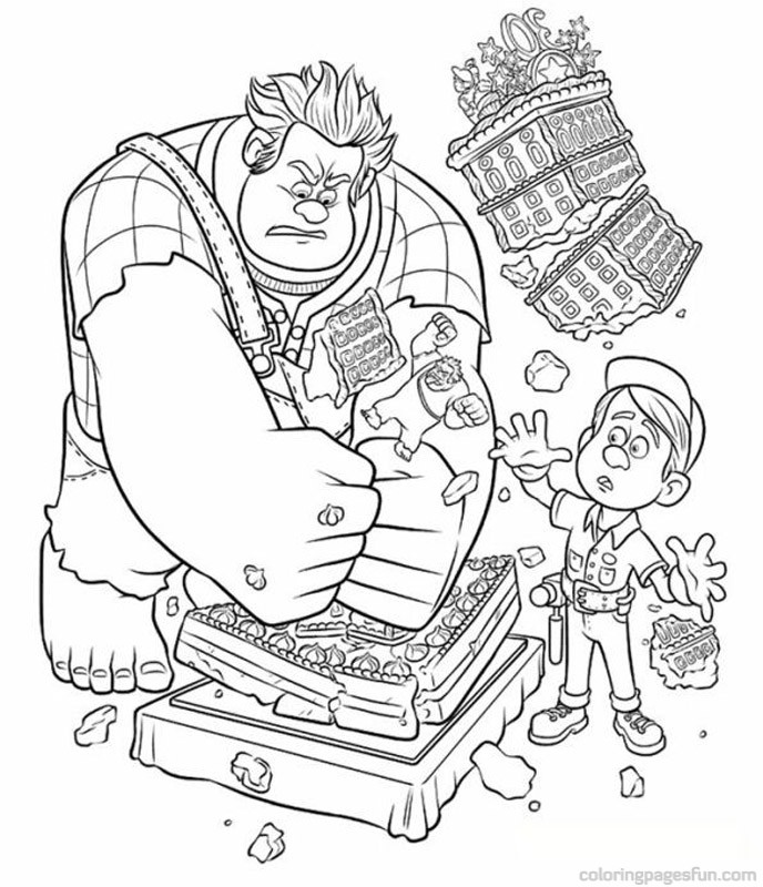 Wreck It Ralph Coloring Pages 14 Free Printable Coloring Pages