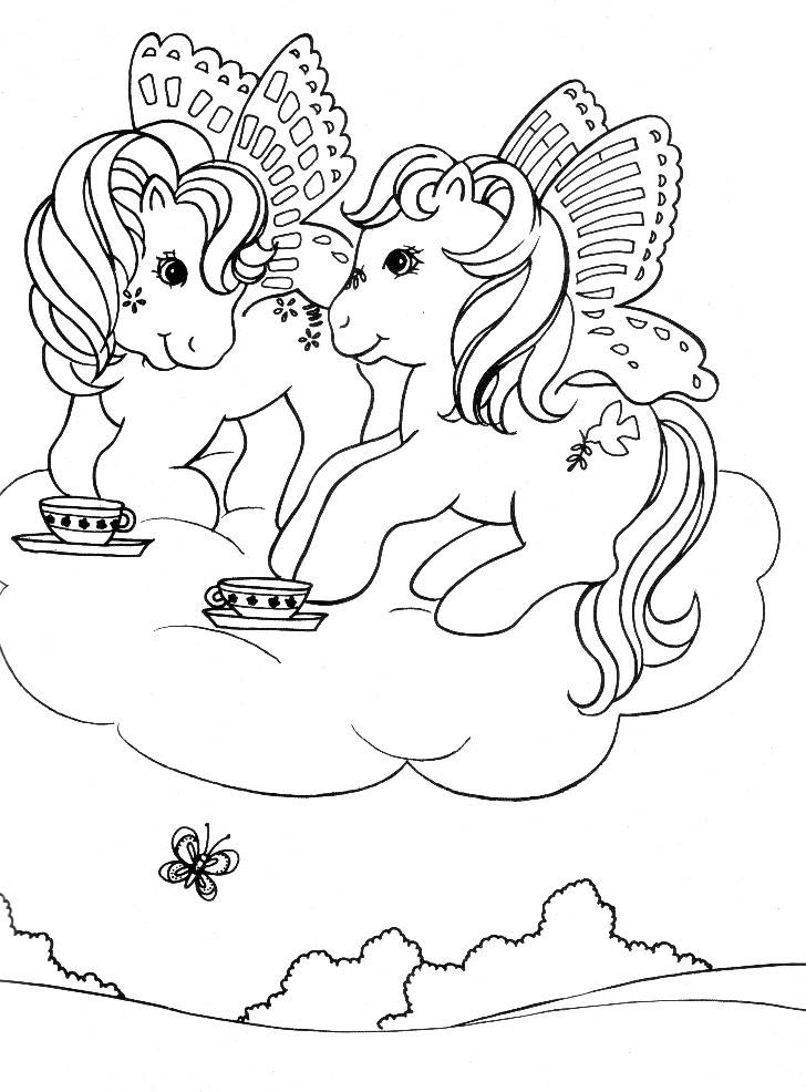 Disegni da Colorare. Serie My Little Pony. Lista