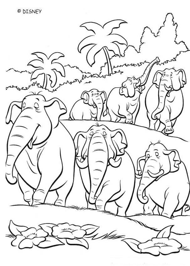THE JUNGLE BOOK Original movie printables - ELEPHANT SQUADRON