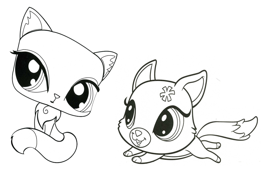 Animaletto da colorare Littlest Pet Shop 15 rincorrersi - disegni ...