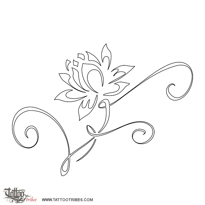 Stencil Di Fiori Tattoo Pictures to Pin on Pinterest