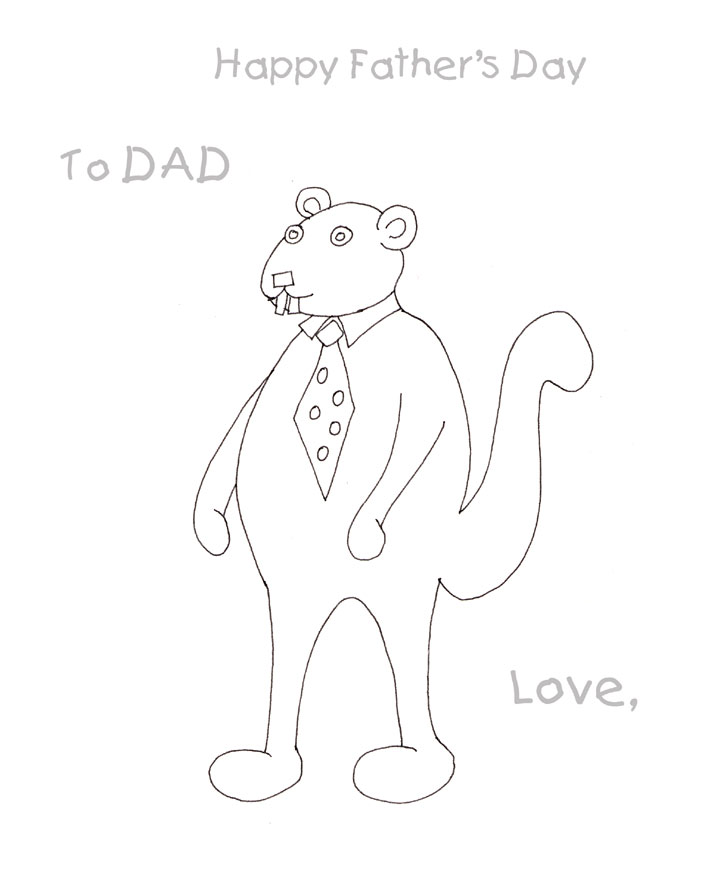 Fathers Day coloring page kids can print and color for dad